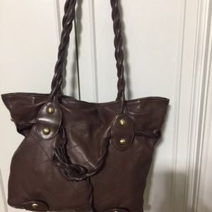 Michael Rome Designs Large Leather Shoulder Tote